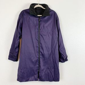 Mycra Pac Now Purple Black Reversible Hoodie Coat